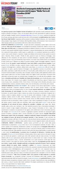 Vicenza Today articolo 27 maggio 2016 - nella terra di ezzelino