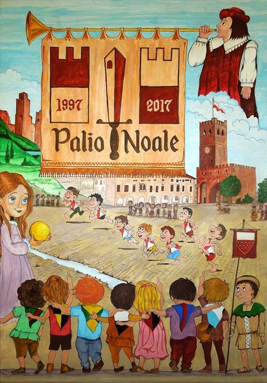 Palio di Noale 2017 dipinto Antonio Ortolan - Academia Sodalitas Ecelinorum San Zenone
