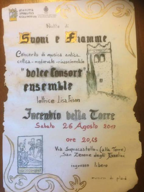 dolce consort ensemble academia sodalitas ecelinorum indendio torre ezzelino 2017.jpg